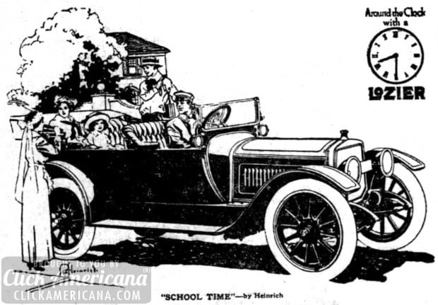 The exclusiveness of a fine motor car (1913)