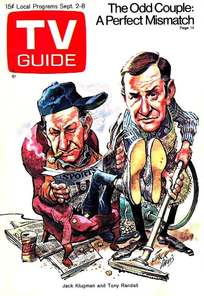 Odd Couple 1970s TV guide - Klugman Randall