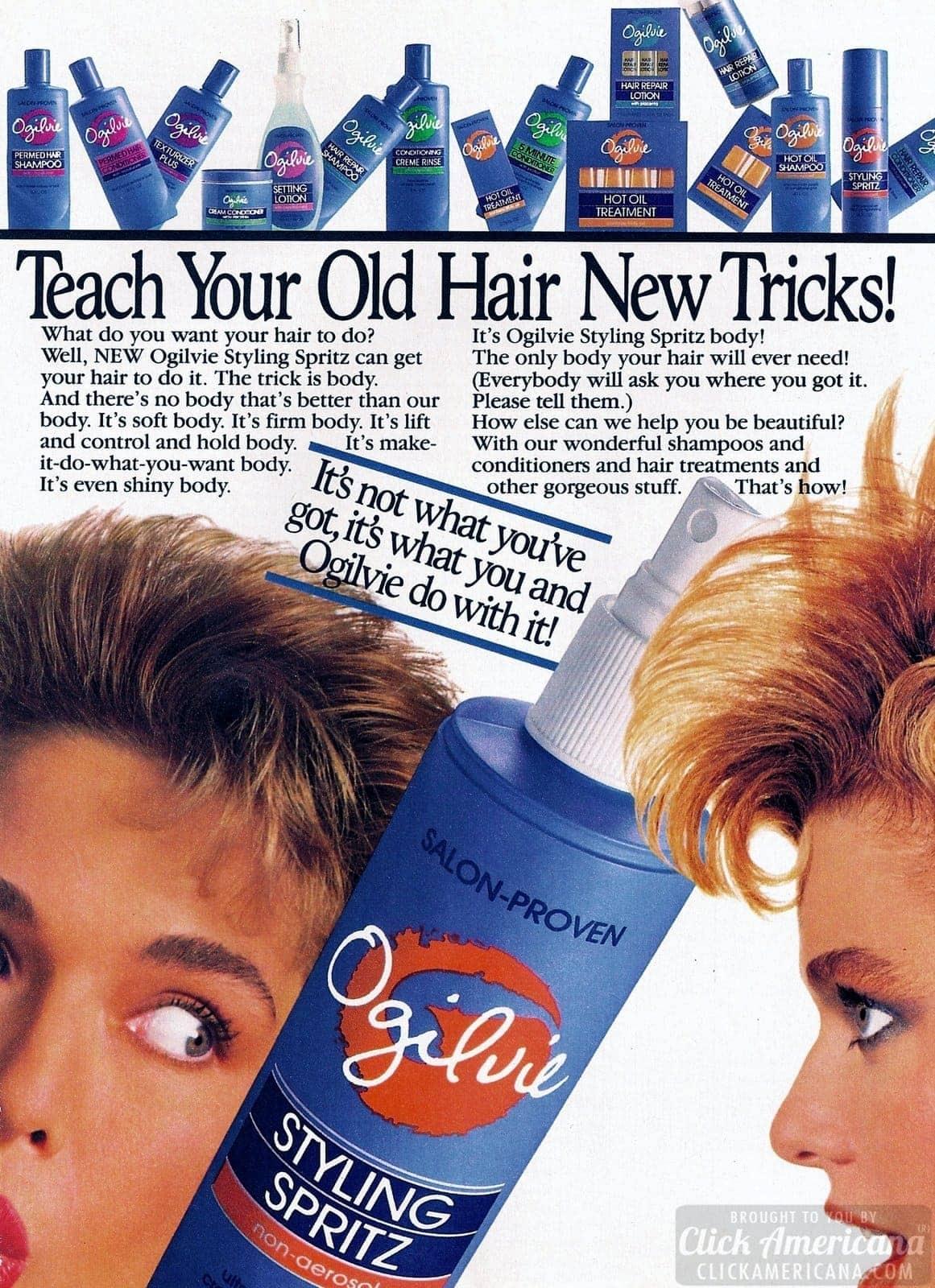 Ogilvie hairspray - vintage ad