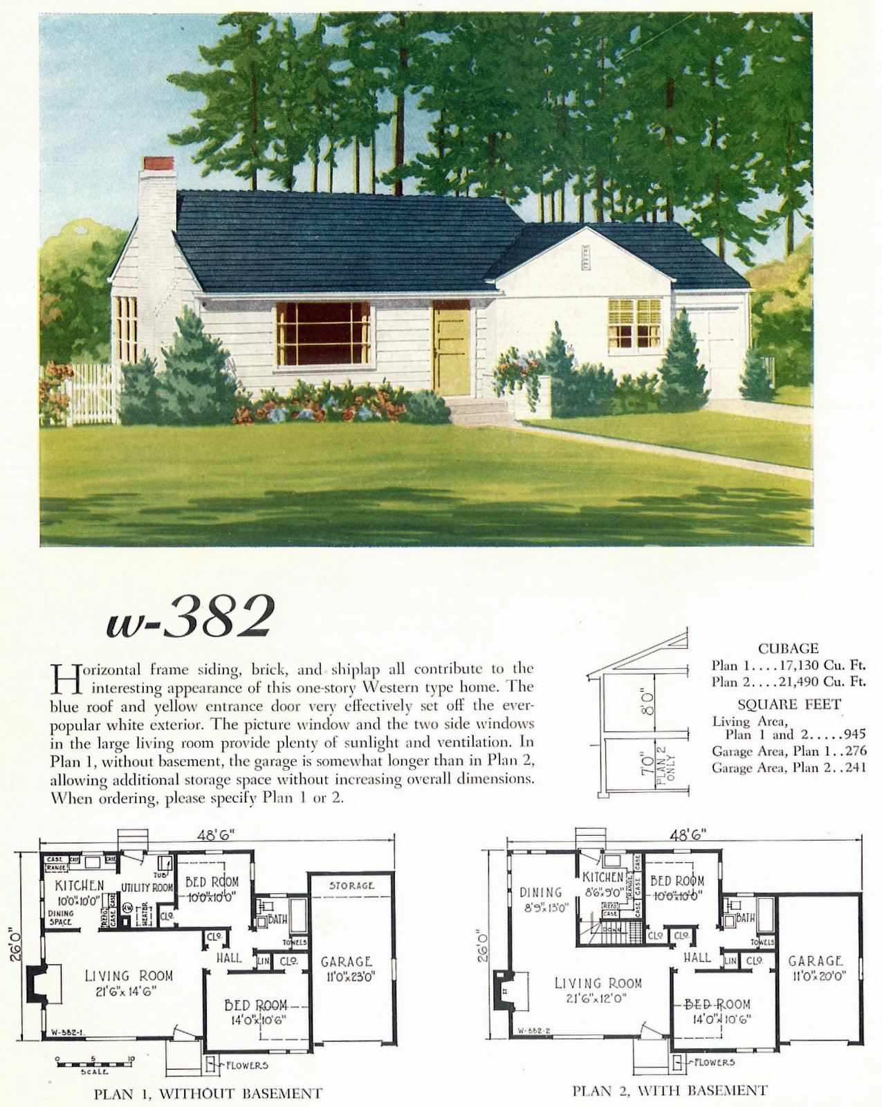 Old 40s post-war small starter home designs from 1948 (1)