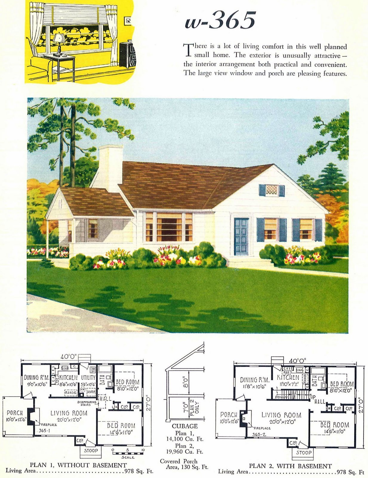 Old 40s post-war small starter home designs from 1948 (2)