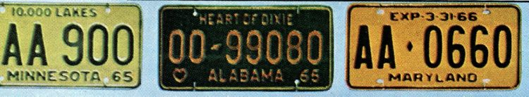 Old 60s license plates USA (1)