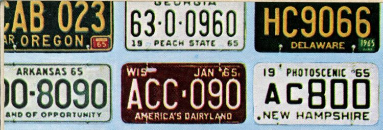Old 60s license plates USA (2)