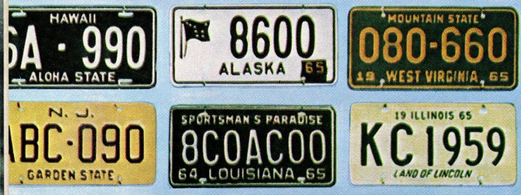 Old 60s license plates USA (3)