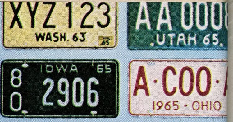 Old 60s license plates USA (5)