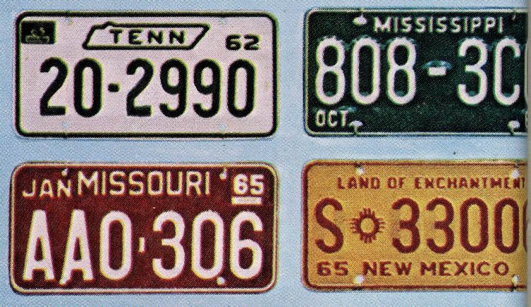 Old 60s license plates USA (6)