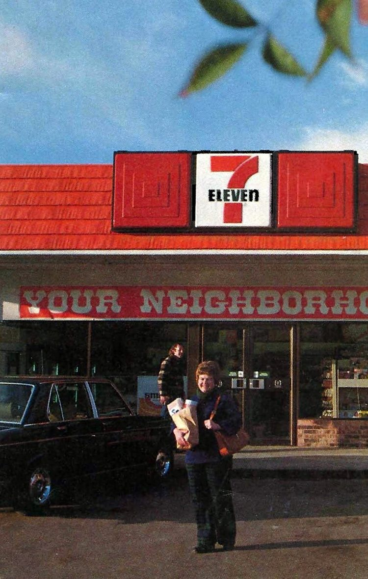 Old 7-11 convenience stores from 1976