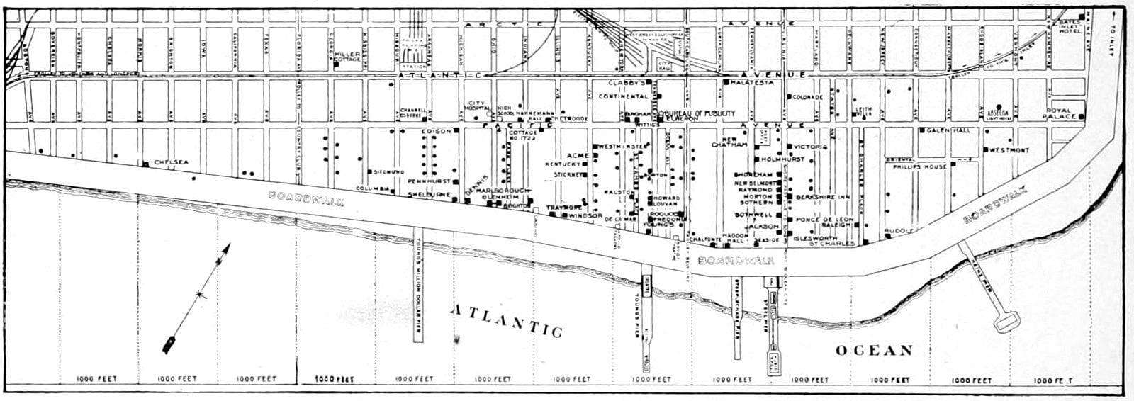 Old Atlantic City map (1911)