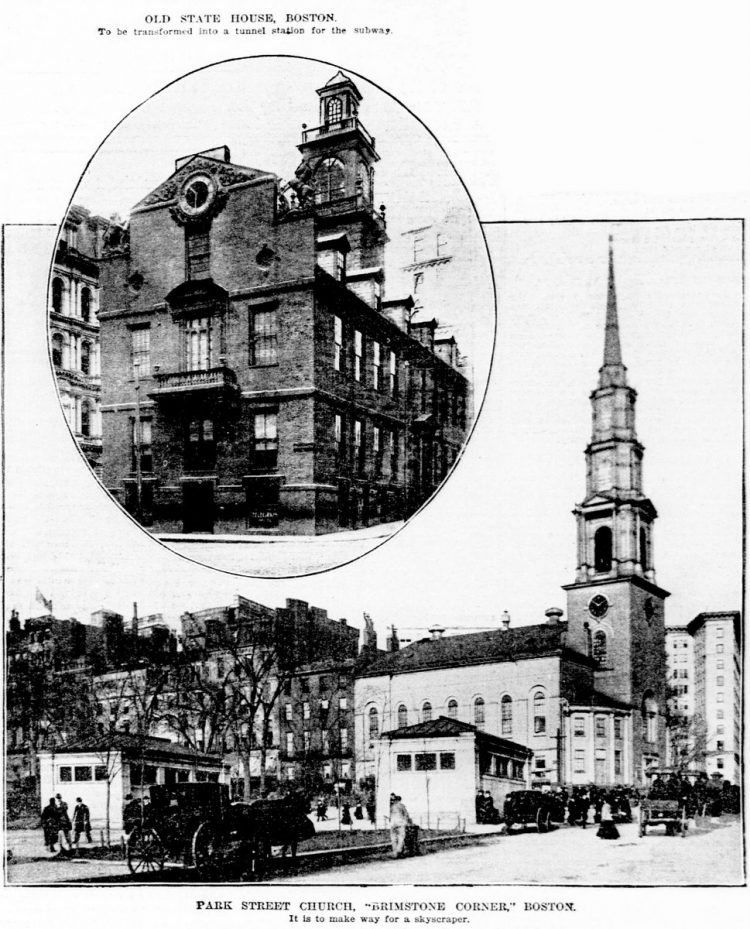Old Boston - Park Street Church in 1903