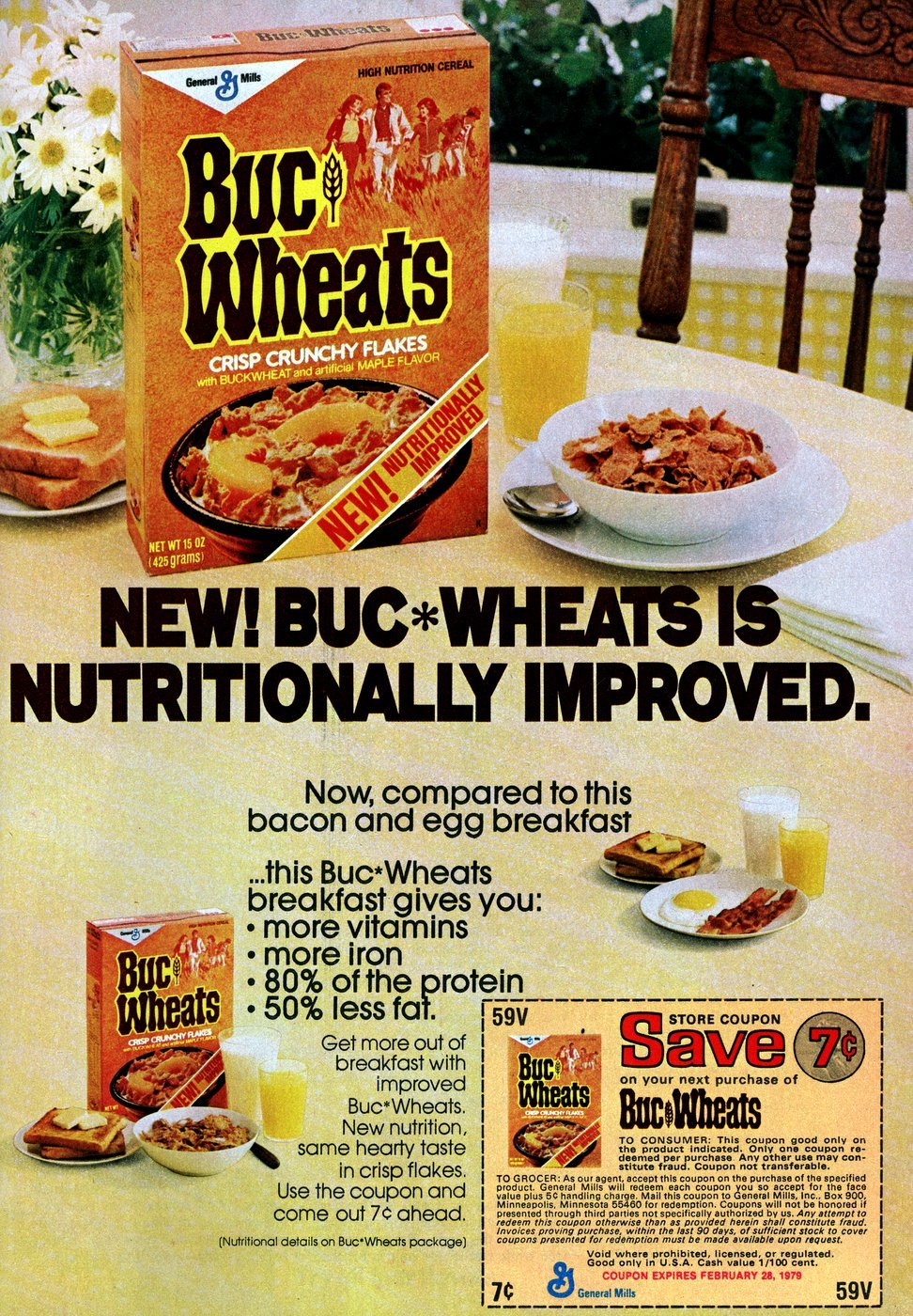 Old Buc Wheats cereal (1978)