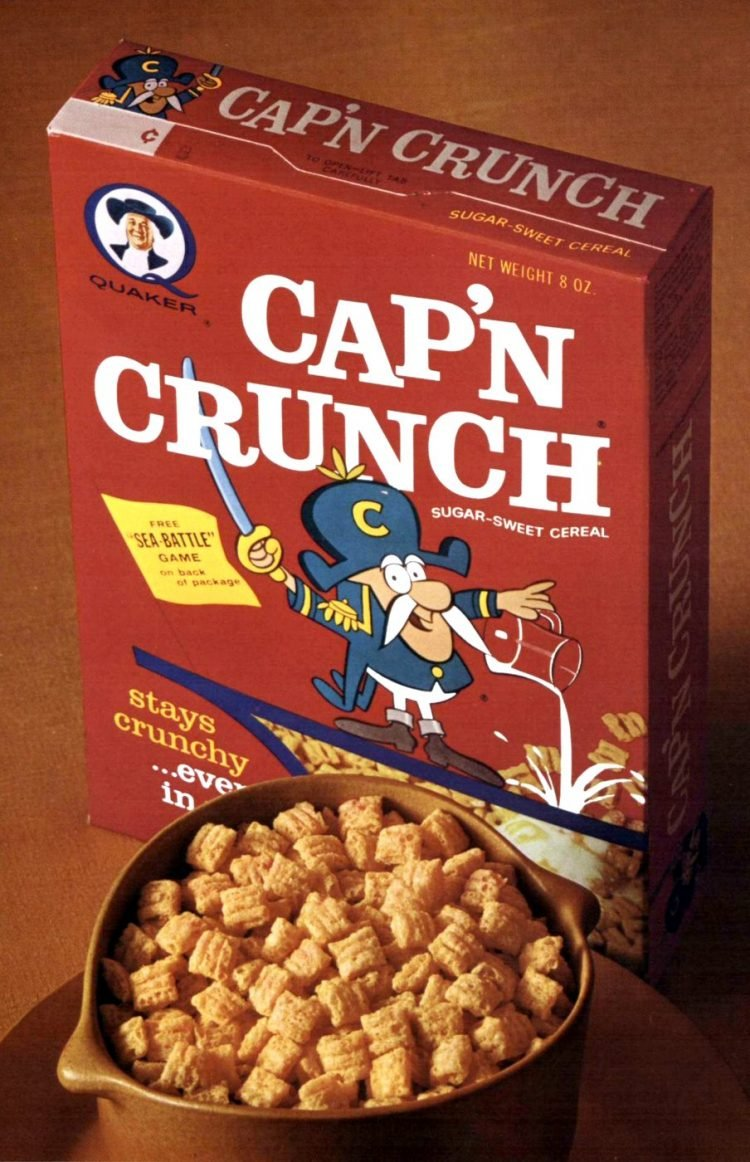 Old Cap'N Crunch cereal box from 1965