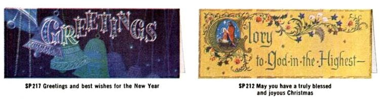 Old Christmas cards from 1960 (1)