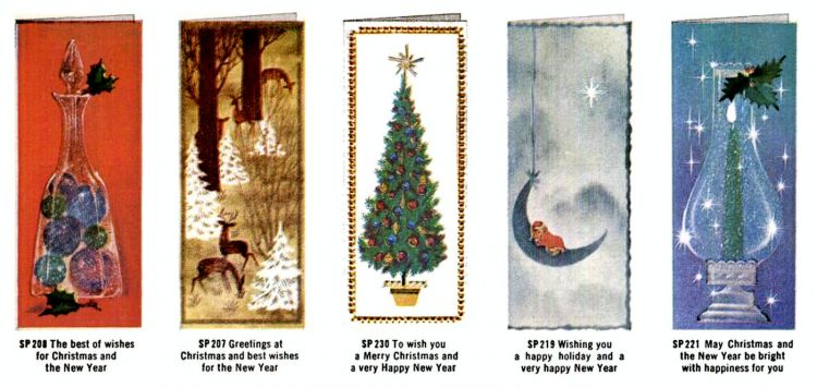Old Christmas cards from 1960 (2)