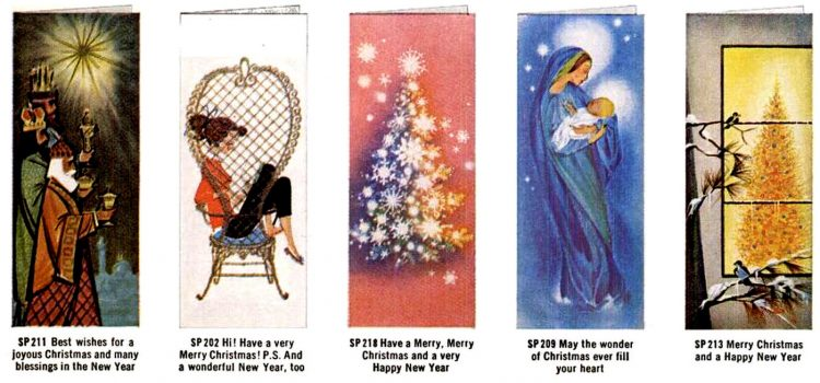 Old Christmas cards from 1960 (4)