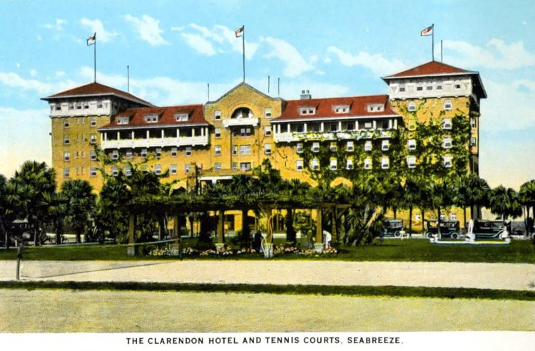 Old Clarendon Hotel and Tennis courts - Seabreeze Florida