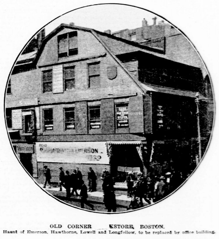 Old Corner Bookstore in Boston - 1903