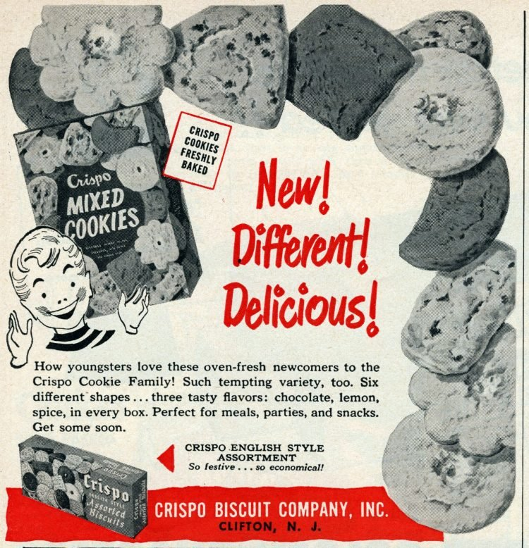 Old Crispo mixed cookies from the 1950s