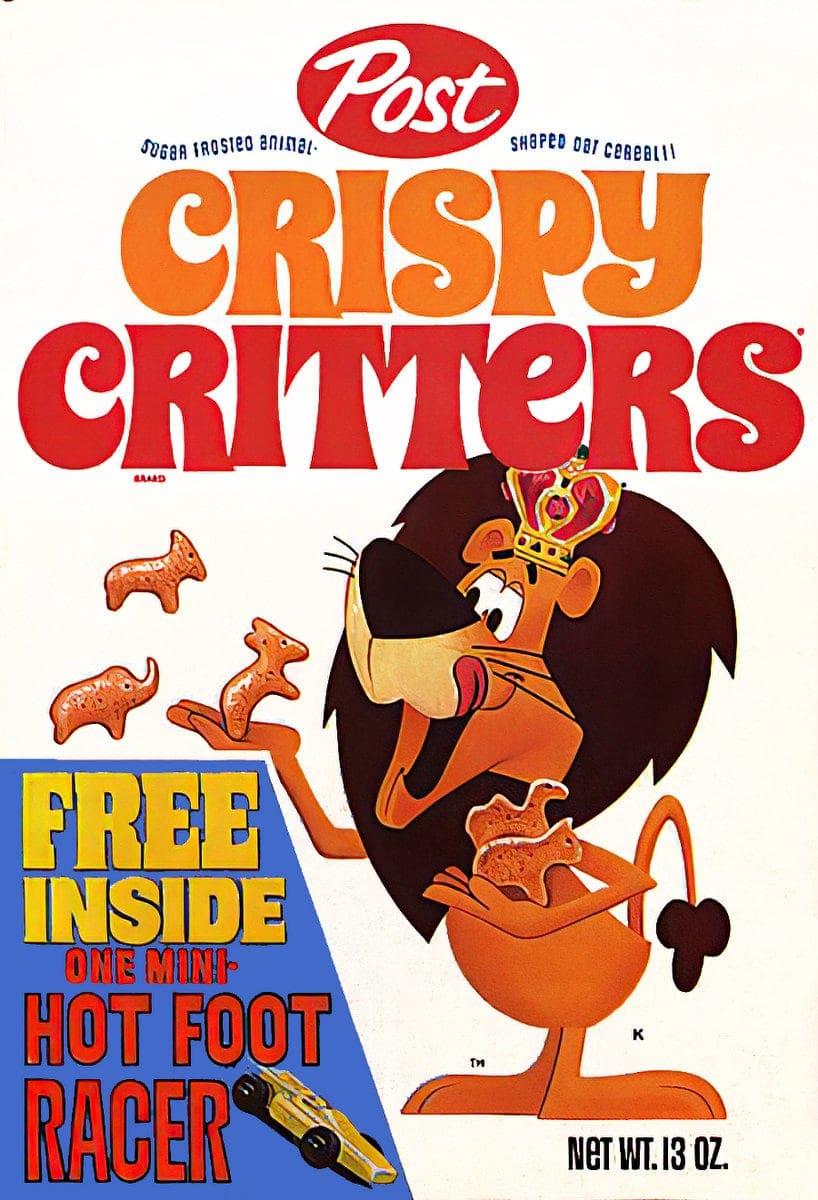 Old Crispy Critters c1970s cereal box front