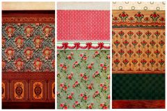Old Edwardian wallpaper styles, patterns & 40 real paper samples from the early 1900s