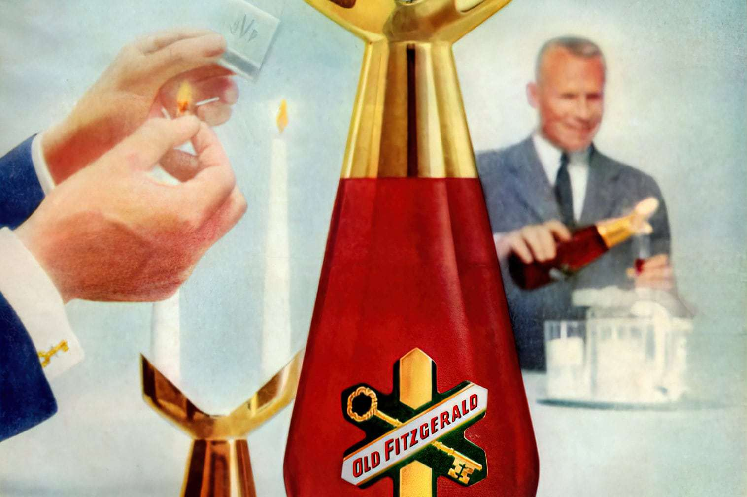 Old Fitzgerald Candlelight decanters (1955-1956)
