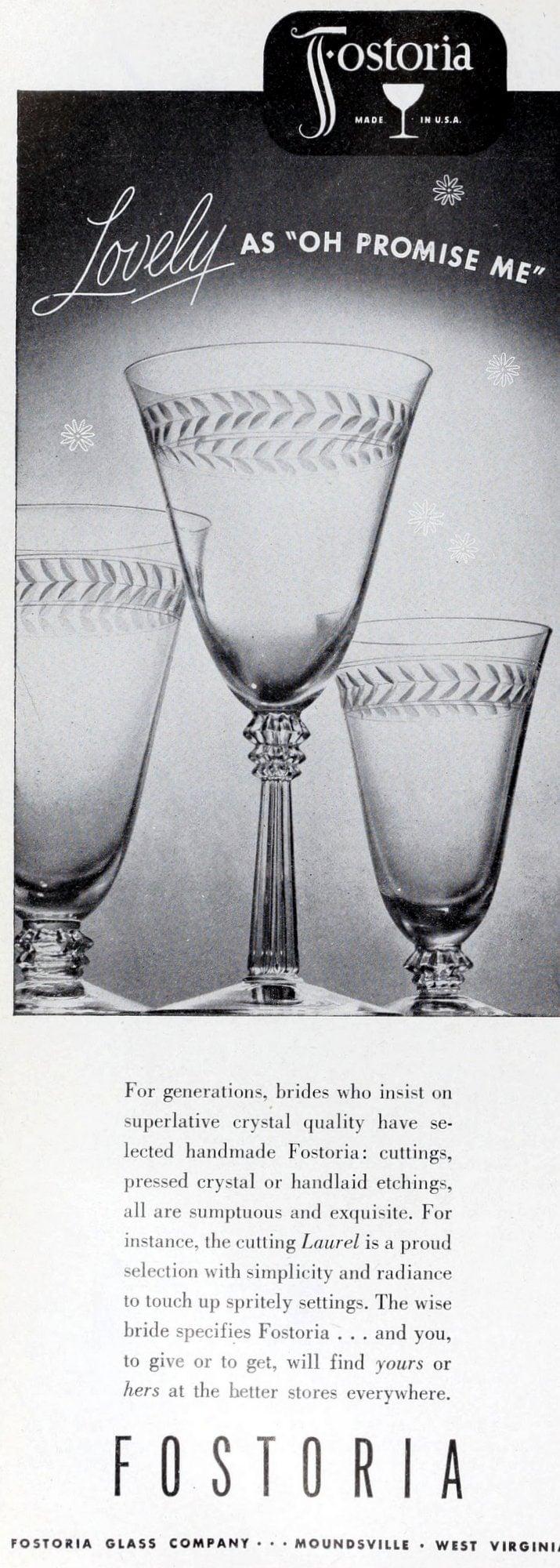 Old Fostoria stemware from 1948 (2)