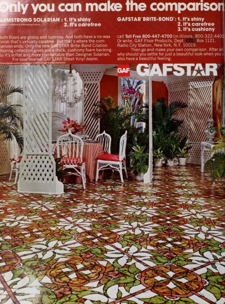 Old Gafstar vinyl flooring from 70s and 80s - From ClickAmericana com (1)