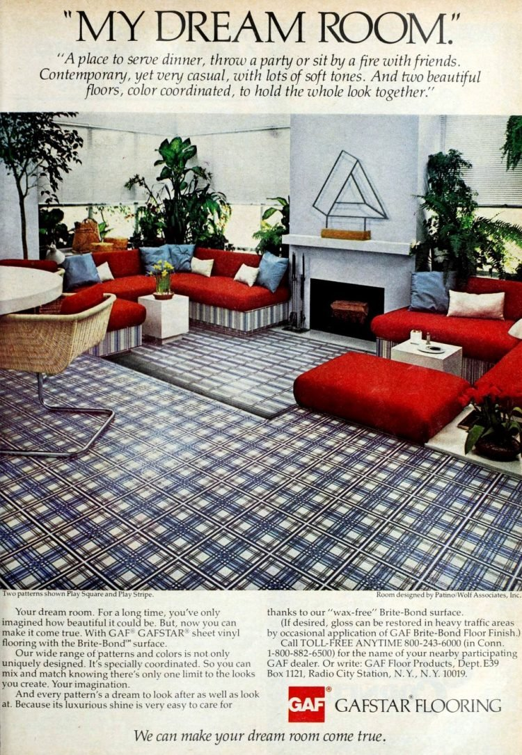 Old Gafstar vinyl flooring from 70s and 80s - From ClickAmericana com (2)