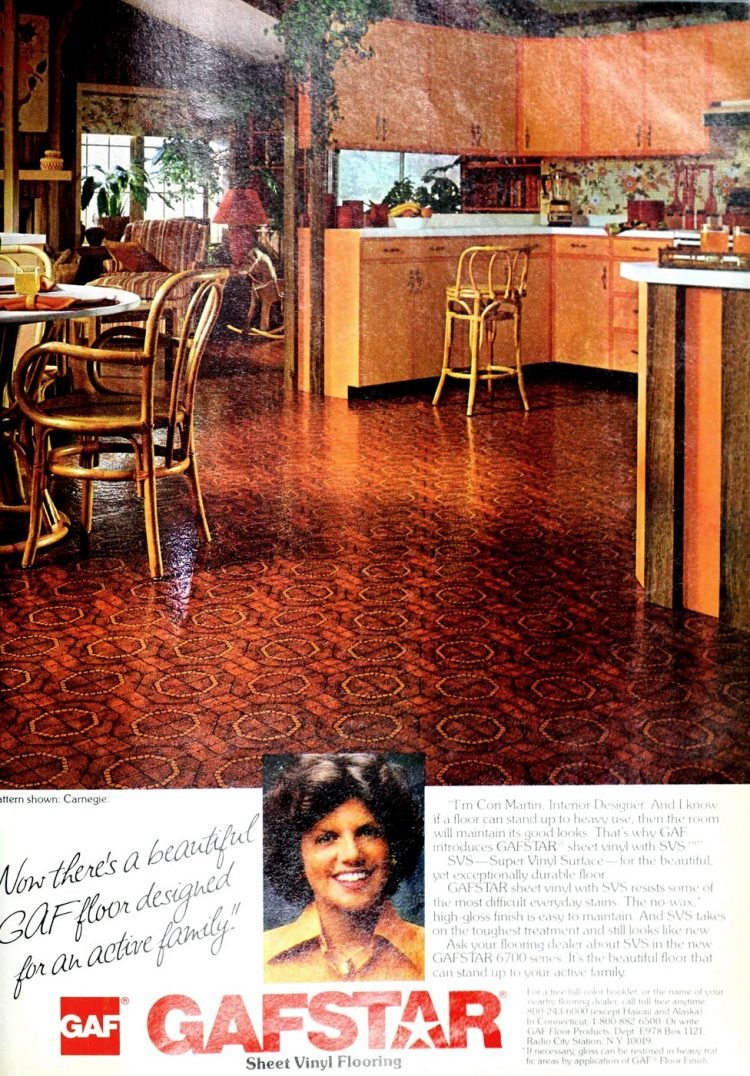 Old Gafstar vinyl flooring from 70s and 80s - From ClickAmericana com (3)