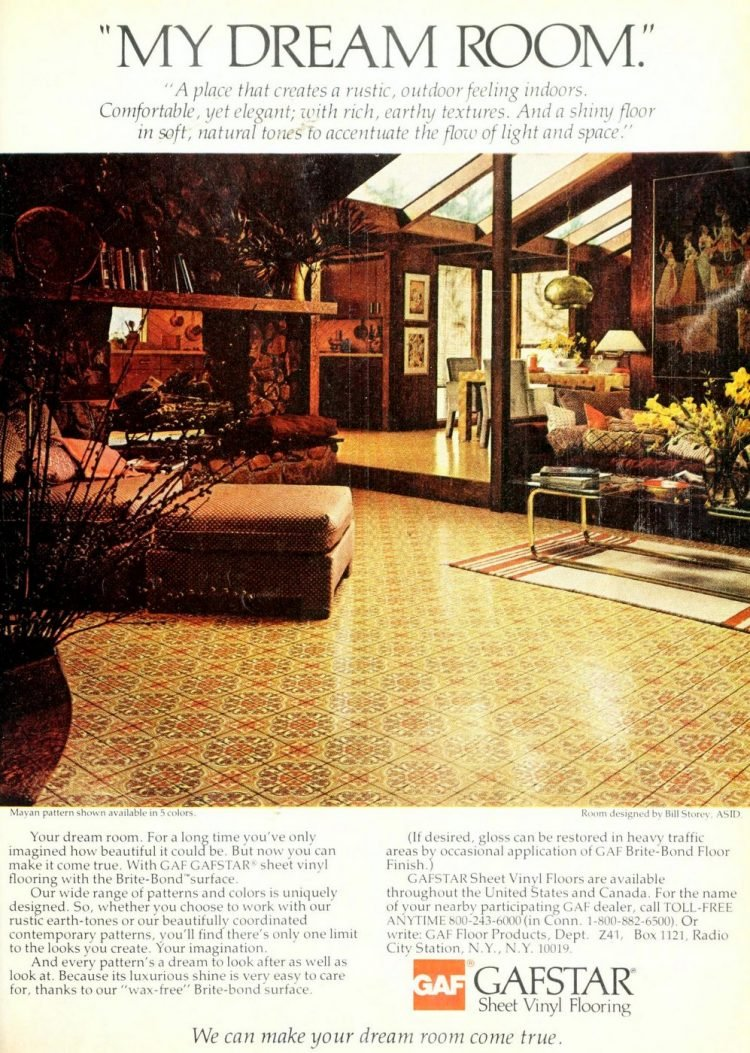 Old Gafstar vinyl flooring from 70s and 80s - From ClickAmericana com (4)