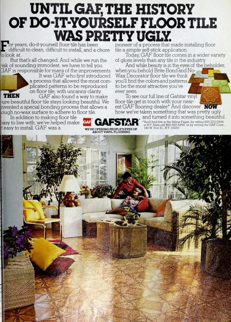 Old Gafstar vinyl flooring from 70s and 80s - From ClickAmericana com (5)
