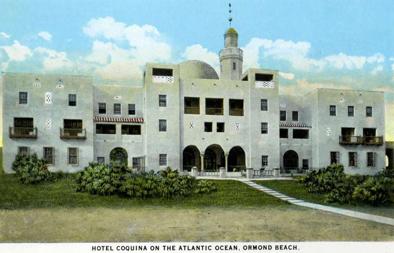 Old Hotel Coquina at Ormond Beach 1917