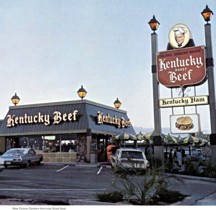 Old KFC Kentucky Fried Chicken restaurants in the sixties (2)