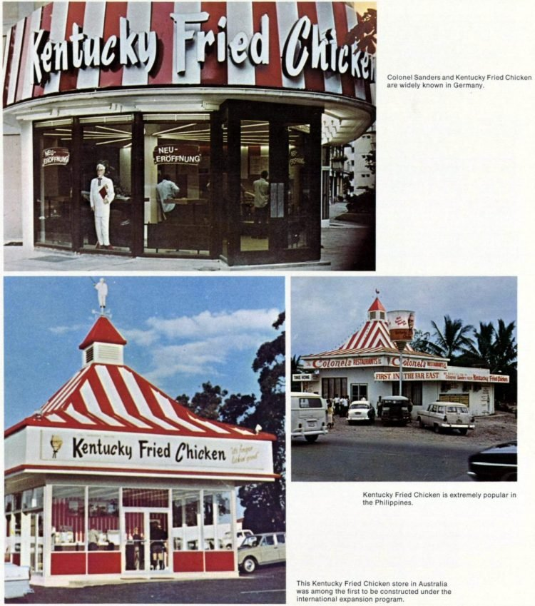 Old KFC Kentucky Fried Chicken restaurants in the sixties (3)