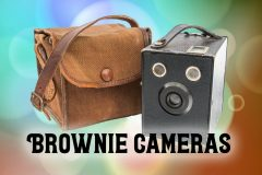 Old Kodak Brownie camera with case