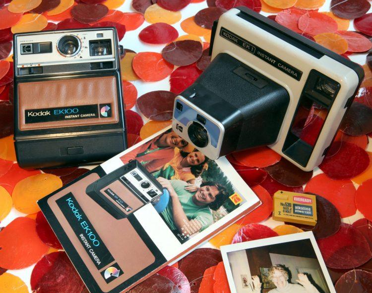 Old Kodak instant cameras