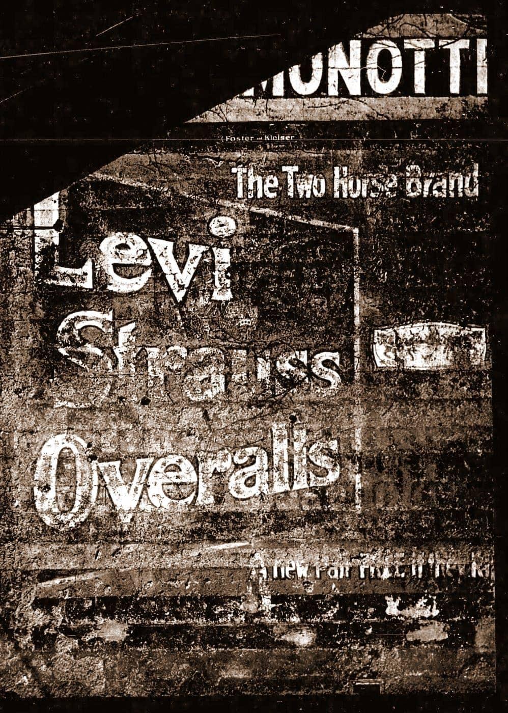 Old Levi's wall ad billboard