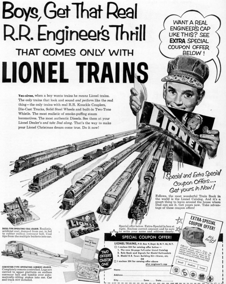 Old Lionel Trains from 1952