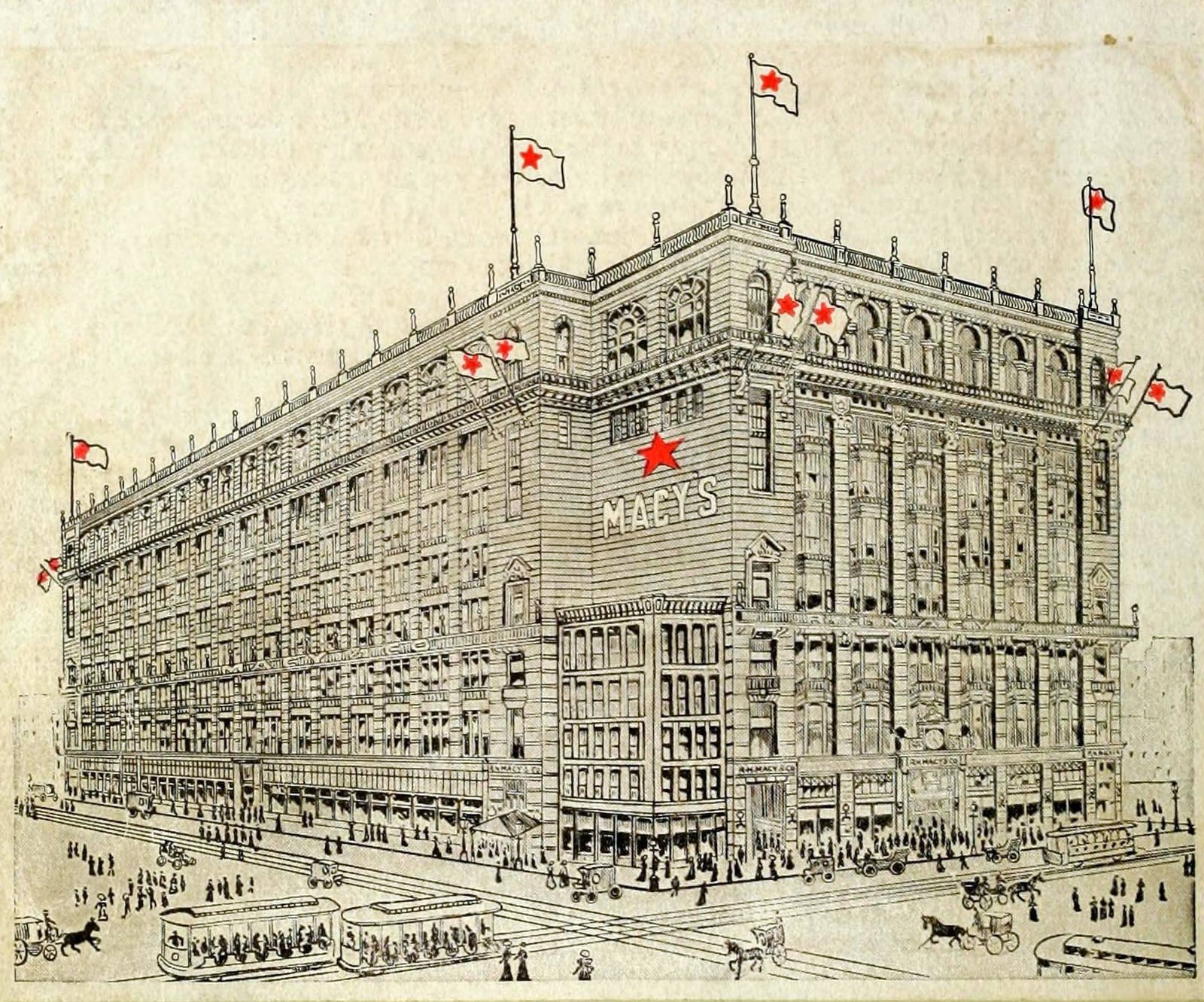 Old Macy's store in NYC (1900s)
