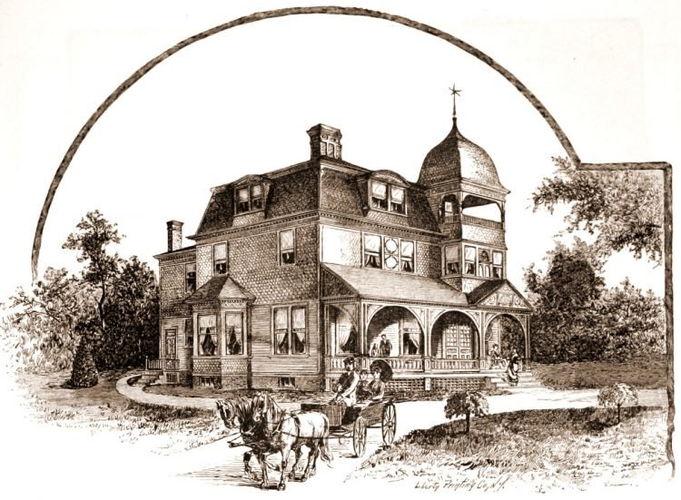 Old Mansard home designs from 1886 - Victorian era (3)