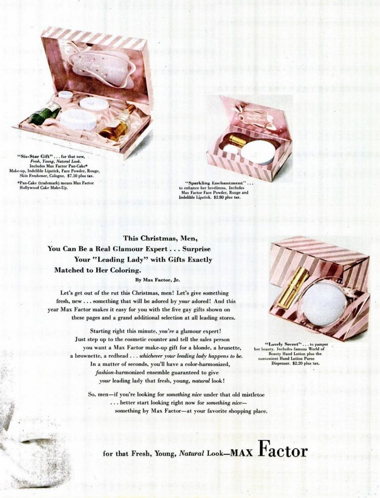 Old Max Factor gift sets for her from 1951 (1)
