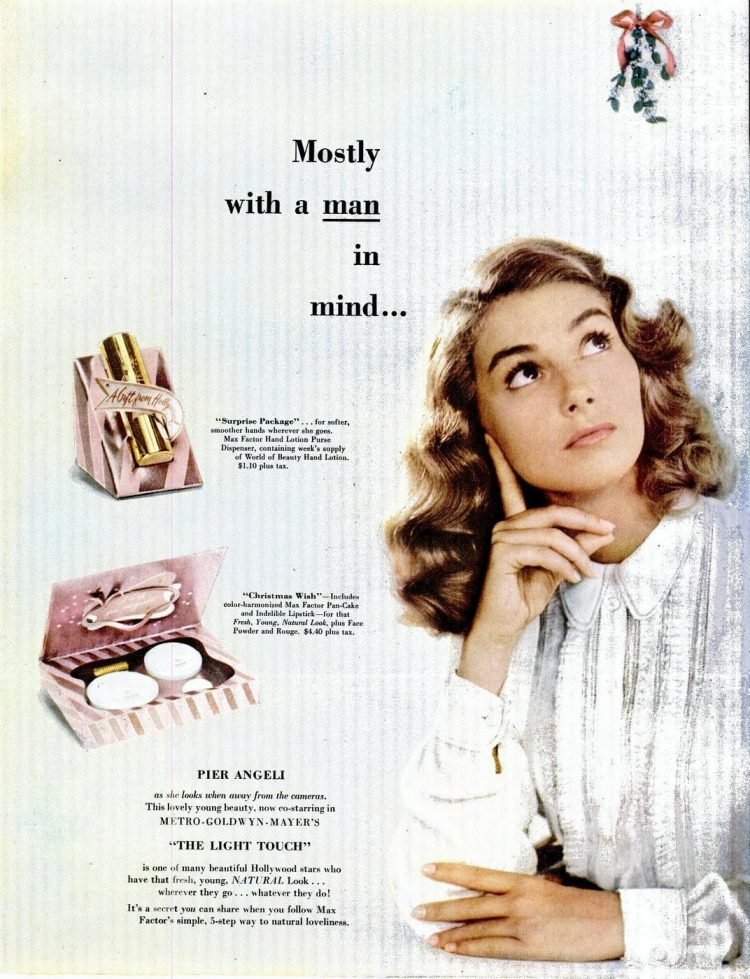 Old Max Factor gift sets for her from 1951 (2)