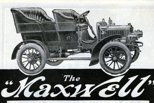 Old Maxwell brand car from 1905