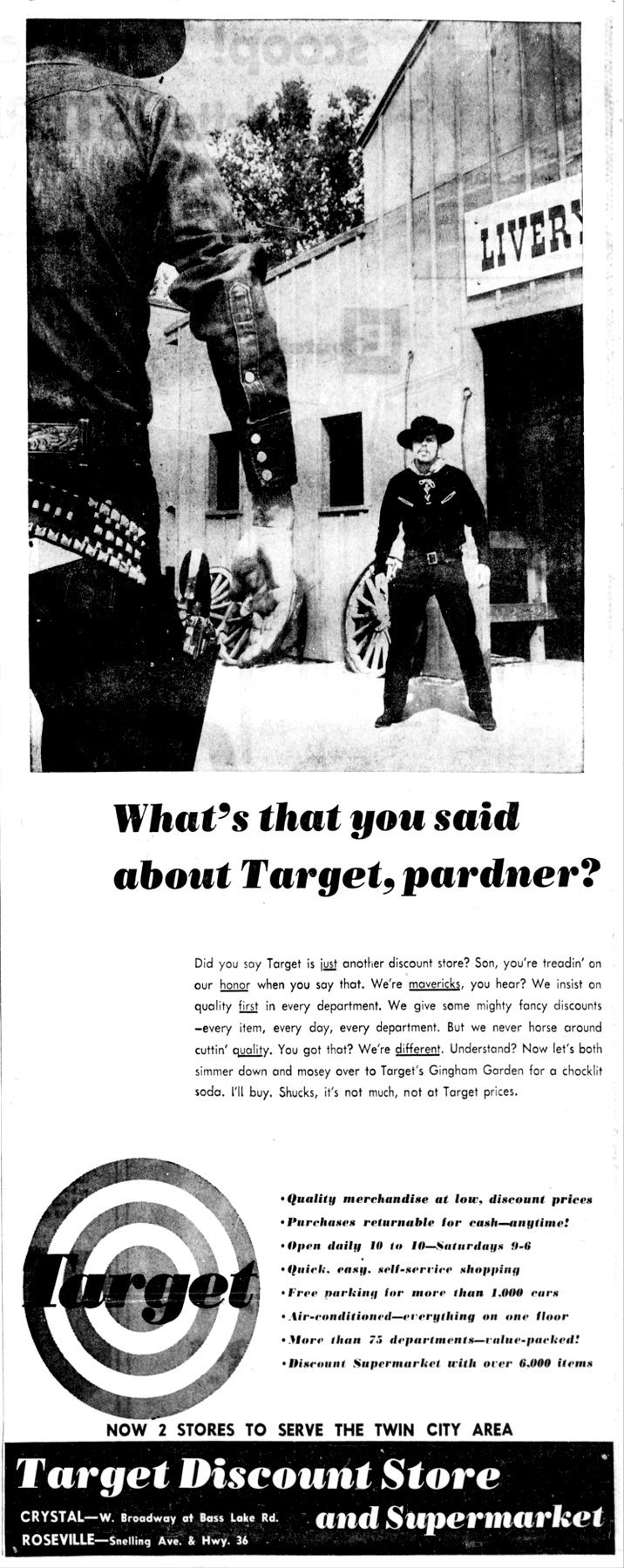 Old Minneapolis Target stores ad from 9-30-1962