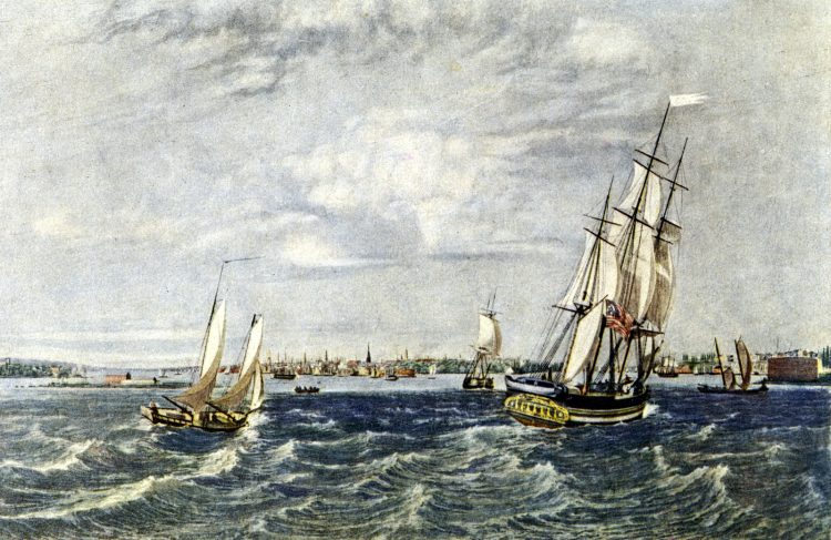 Old New York from the bay (1835)