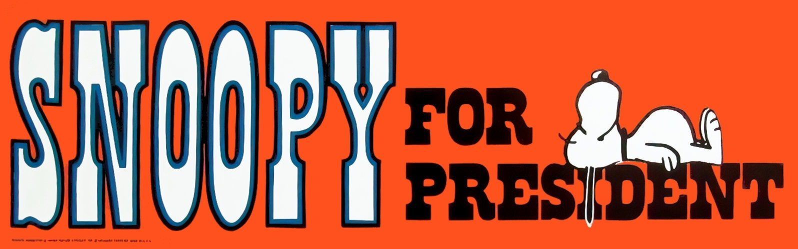 Old Peanuts - Snoopy for President bumper sticker
