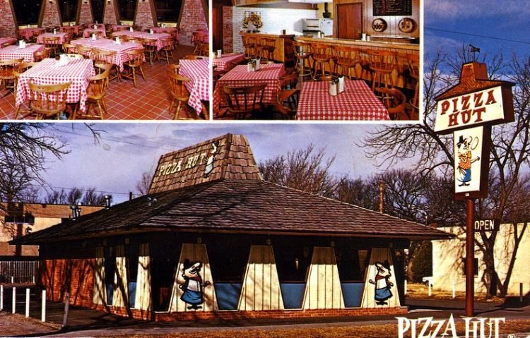 Old Pizza hut postcard