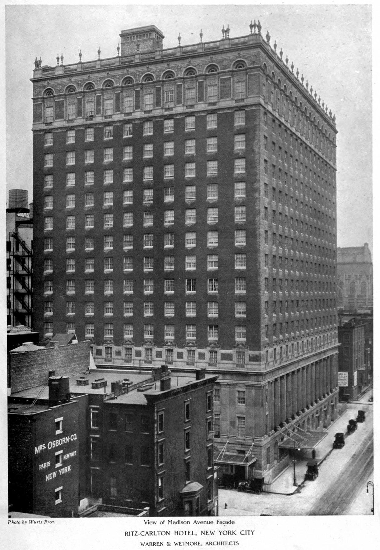 Old Ritz-Carlton Hotel building exterior (1913) - ClickAmericana com