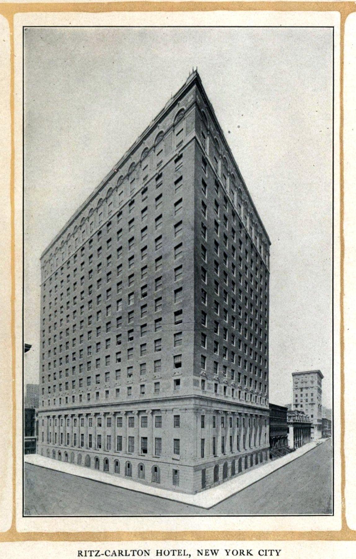 Old Ritz-Carlton Hotel building exterior (c1920) - ClickAmericana com