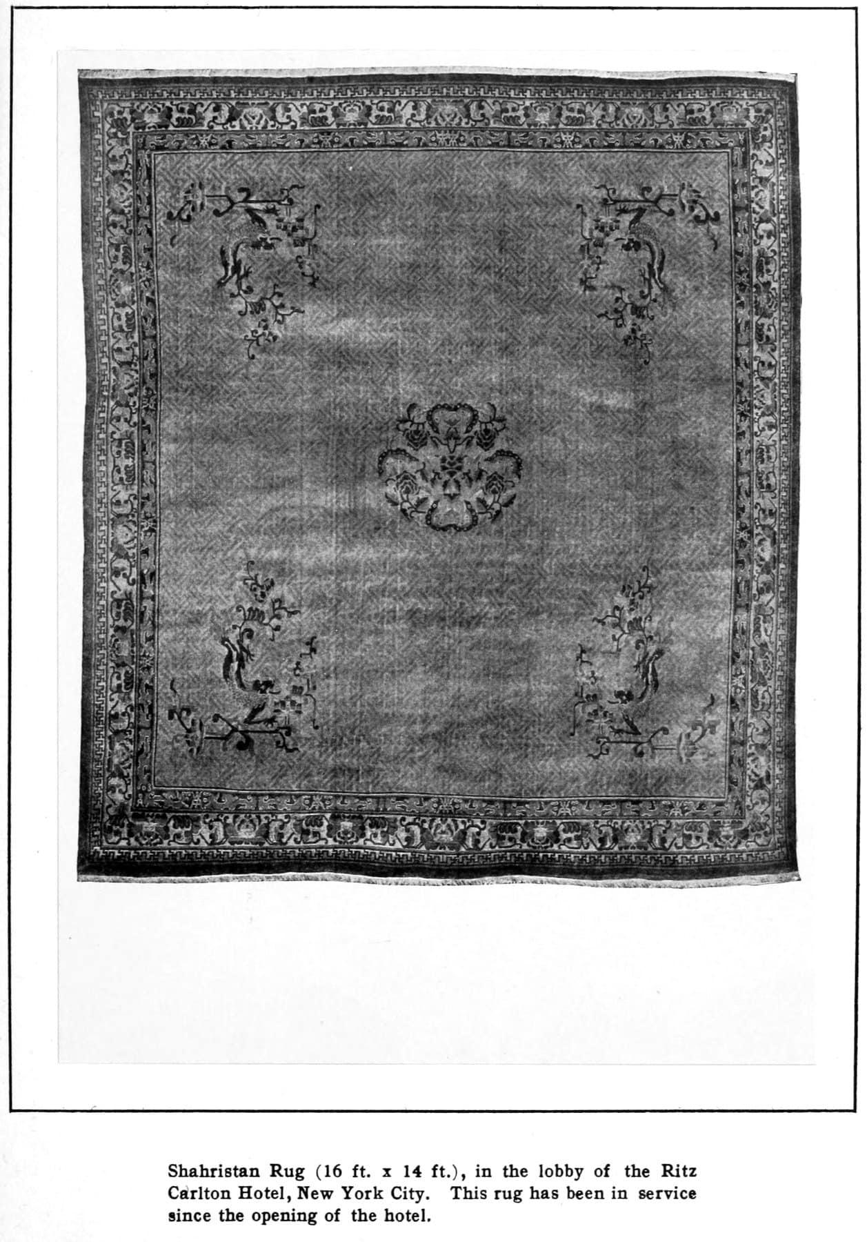 Old Ritz hotel rug in lobby (1913) - ClickAmericana com