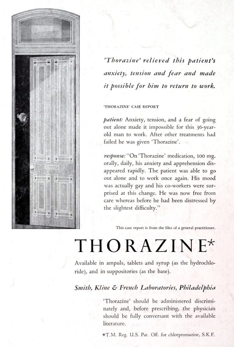 Old Thorazine medical ads from 1956 (1)
